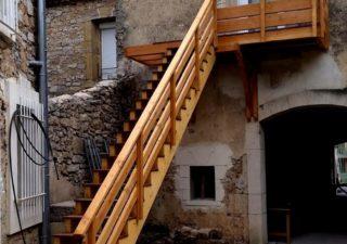 escalier bois aveyron