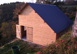 hangar ossature bois Aveyron
