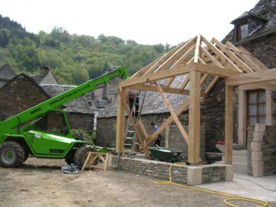 charpentier bois Aveyron Bozouls