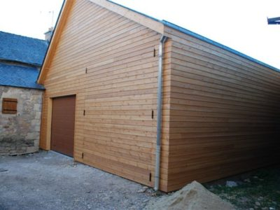 extension garage en bois