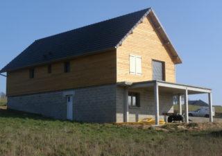 maison ossature bois aveyron